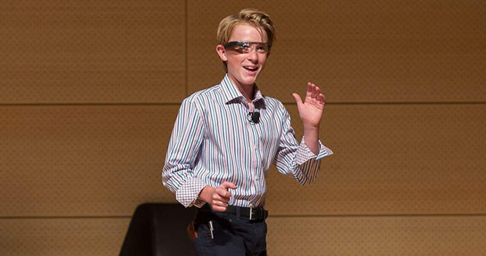 The visionary teen says he loves solving problems.