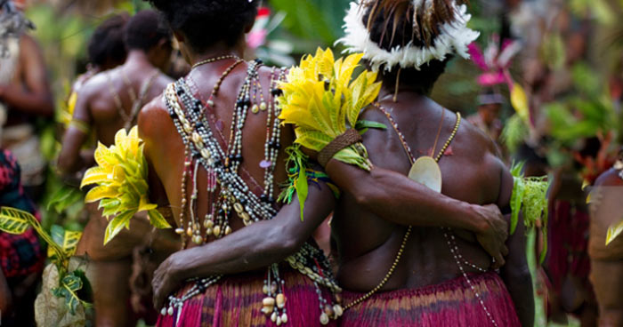 Tribal people in Papua New Guinea