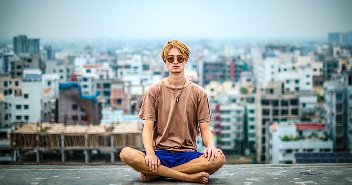 Yoga kneeling down