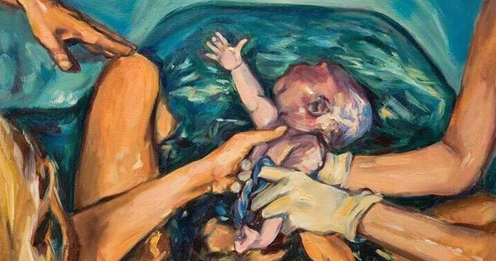 Birth artwork by Amanda