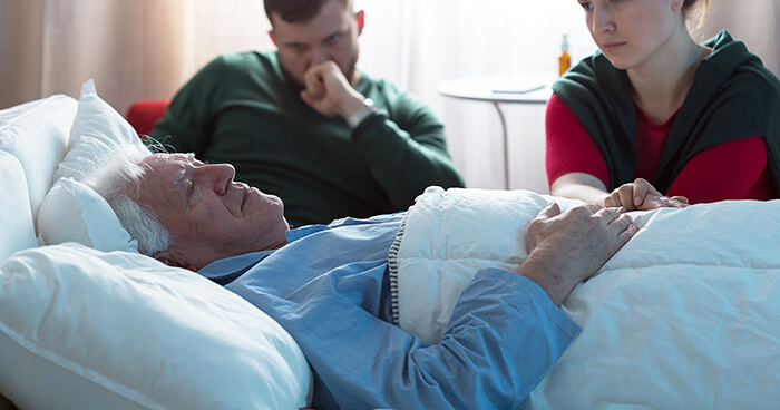 Watching a loved one dying
