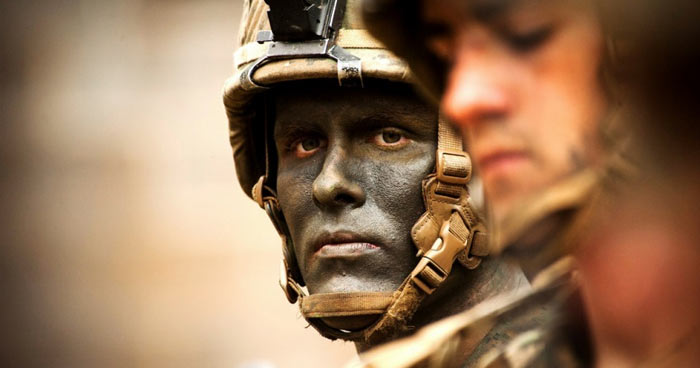 Soldier's face