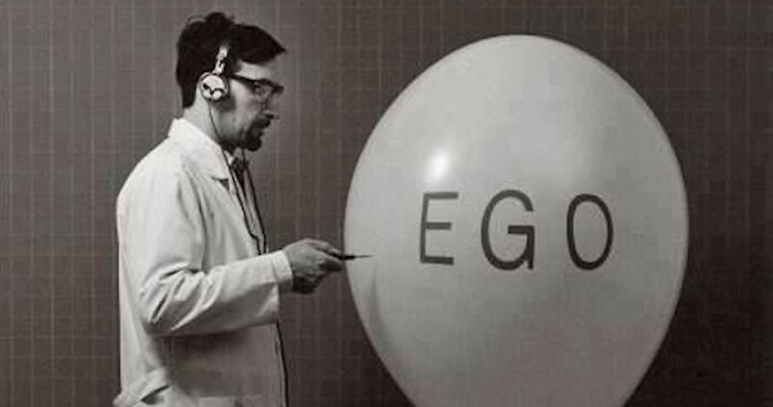 Let your ego take the beating.