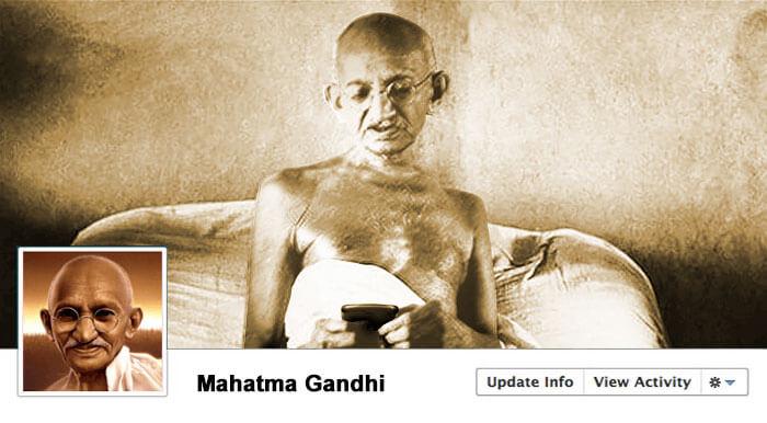 Ghandi social media profile
