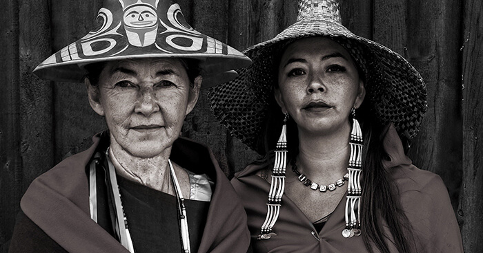 Matika Wilbur, right, and her mother, Nancy