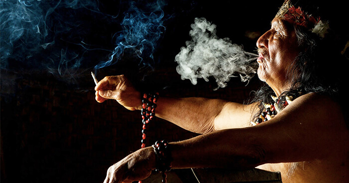 Smudging clears spiritual and emotional negativity