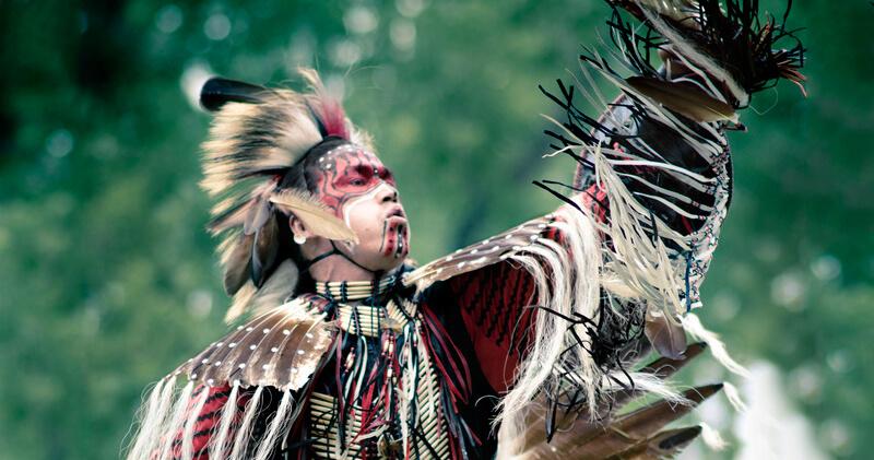 Kahnawake Mohawk Territory dancer Jerry Hunter
