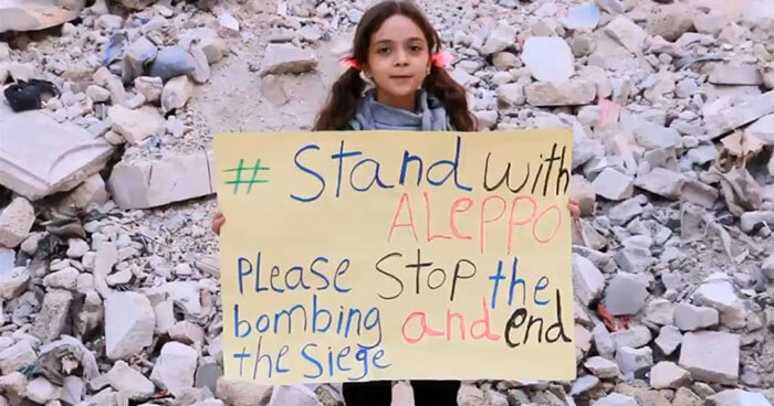 The little girl from Aleppo