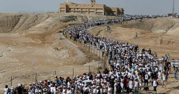Thousands finished a two-week long peace march.