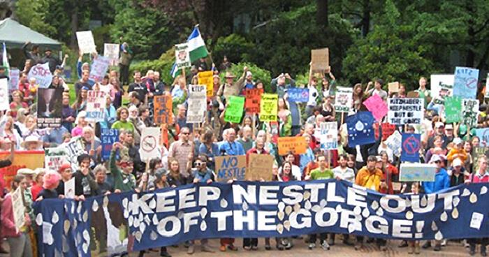 Protesting against Nestle