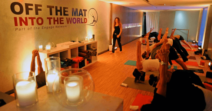 Escape in a yoga class