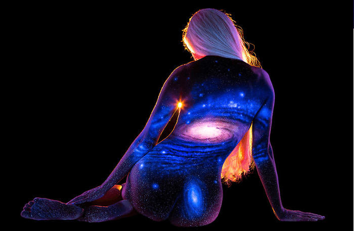 Woman made of stars