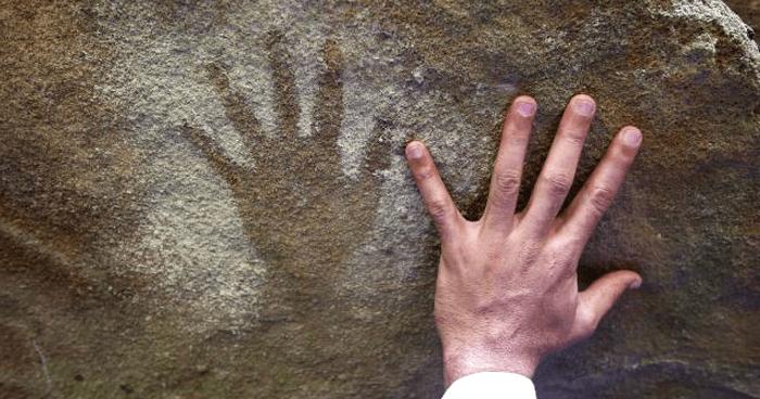 Cave art hand