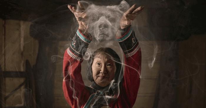 Siberian shaman grandmother