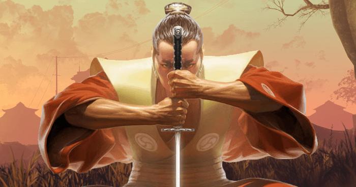 Samurai practicing