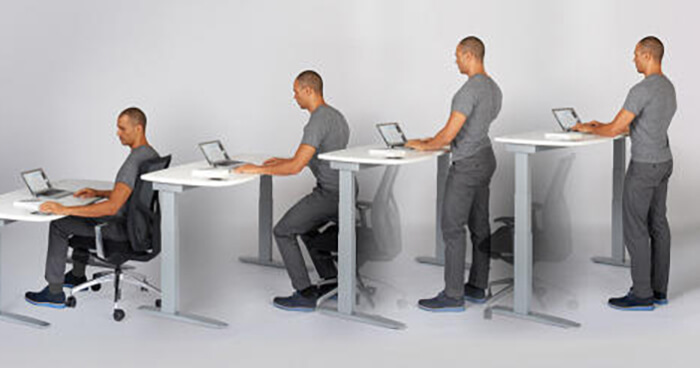 A stand-up desk is a great option if you have an office job.