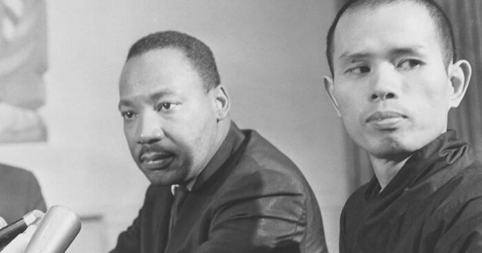 Martin Luther King Jr with Thich Nhat Hanh