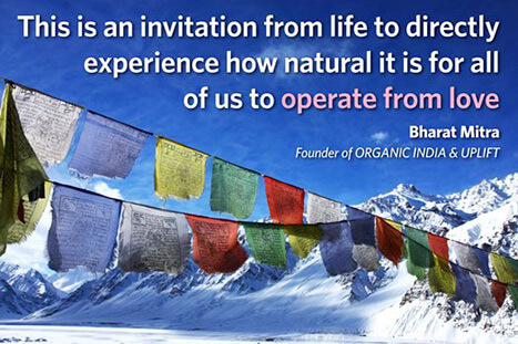 Operate from Love quote from Bharat Mitra