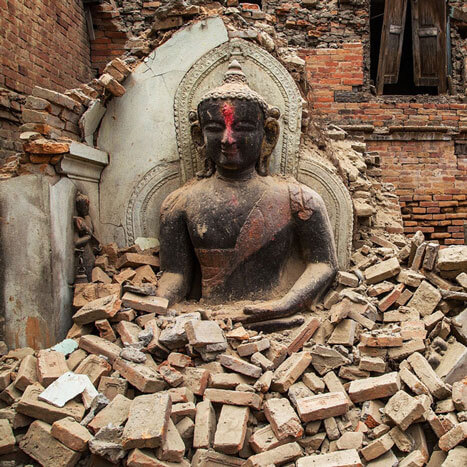 Tents For Nepal Buddha in Rubble