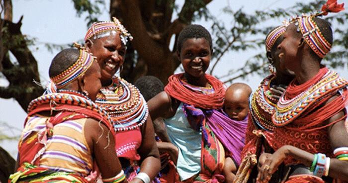 The happy residents of Umoja
