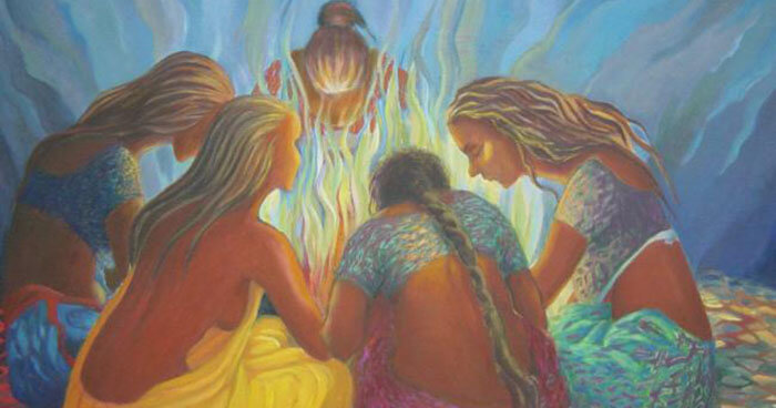 Women are created to be together, to collaborate, to support each other, and to be a sacred community.