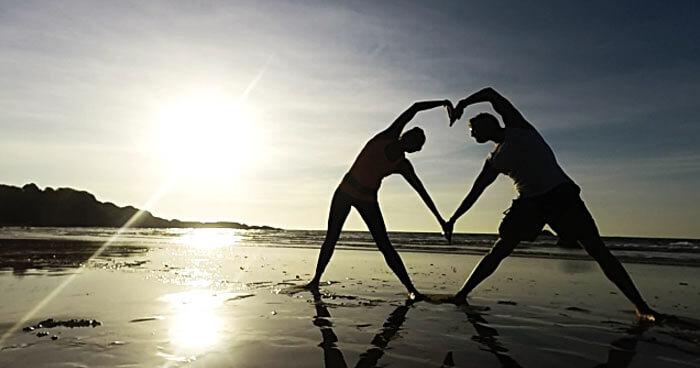 Yoga heart pose