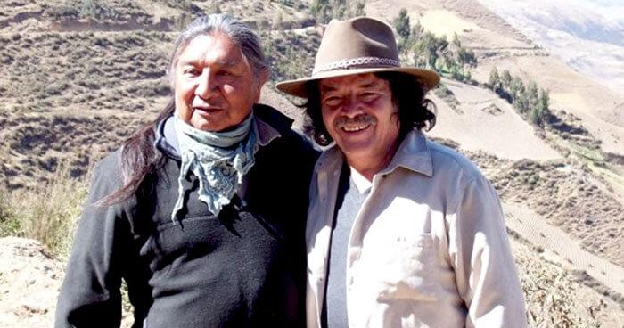 Above: Harold Joseph (left), and Don Americo Yabar