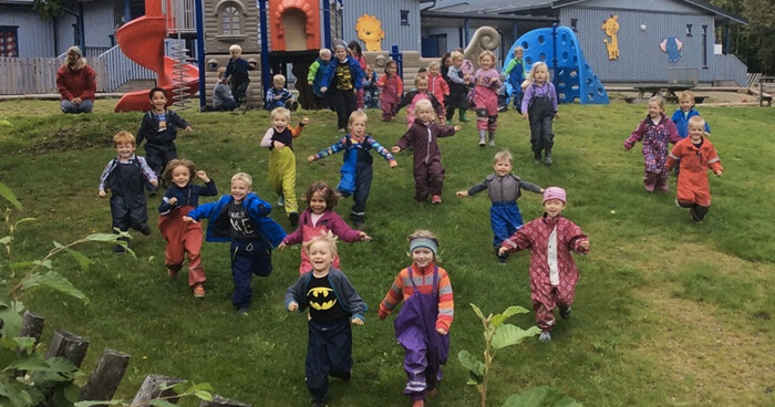 Barnehages encourage play and exploration