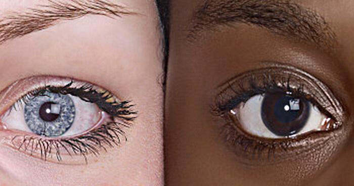 White girl black girl close up