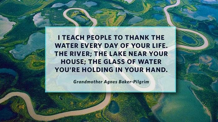 Grandma Agnes Love Water Quote