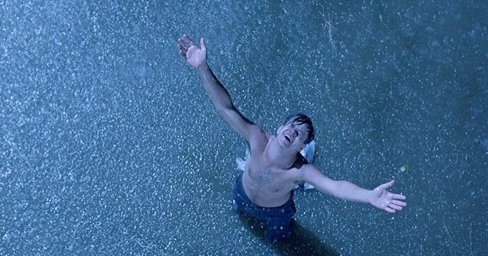 Shawshank Redemption Andy in rain