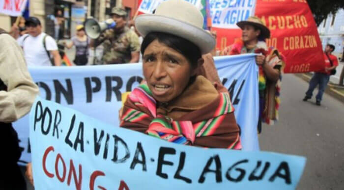 Indigenous on the forefront of the fight against water privatization in Bolivia