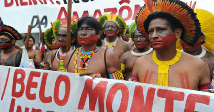 Indigenous peoples of the Amazon fighting the Belo Monte dam