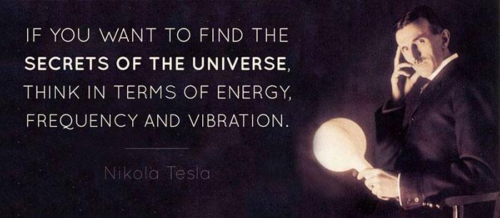 Nikola Tesla Vibration Quote