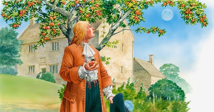 Isaac Newton thinking