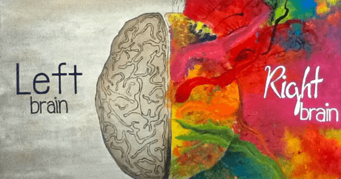 Life changes don't leave much energy for the left side of the brain.