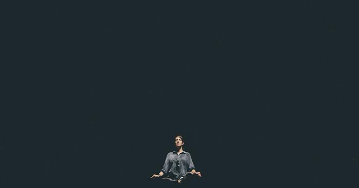 Meditator in the void