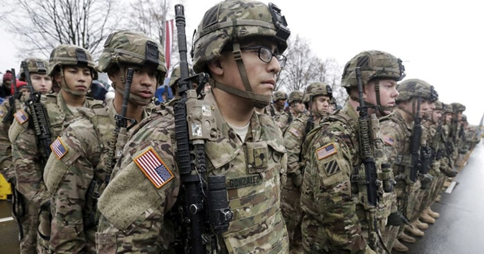 Military kills men inside