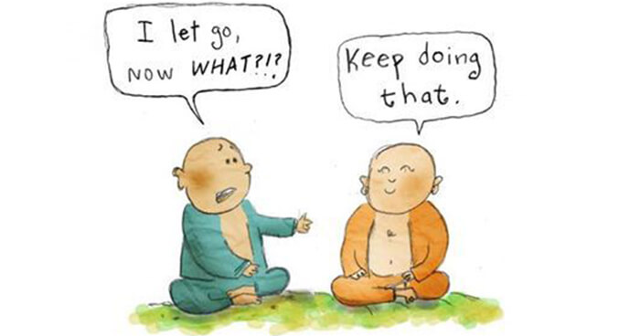 Monk learning to 'let go'
