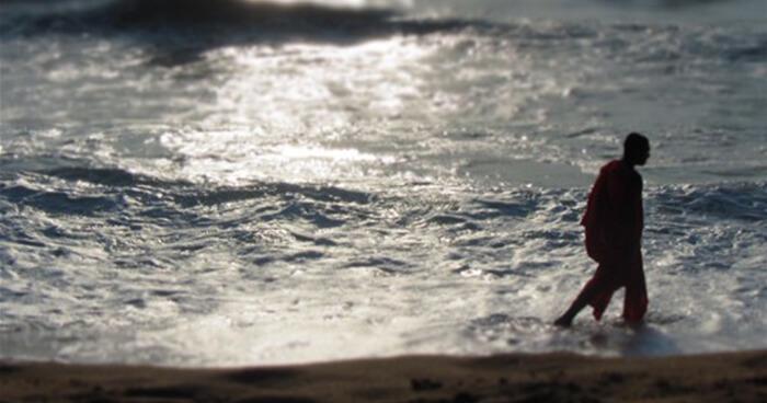 Monk and ocean