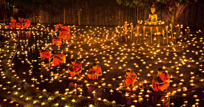 Monks and candles