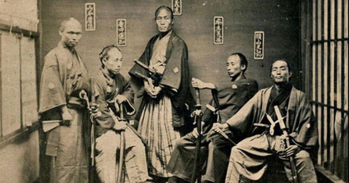 Meditating samurai