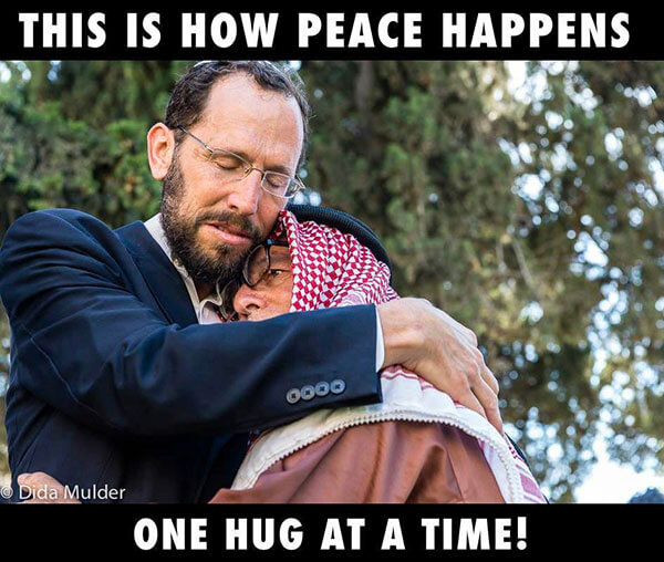This is how peace happens