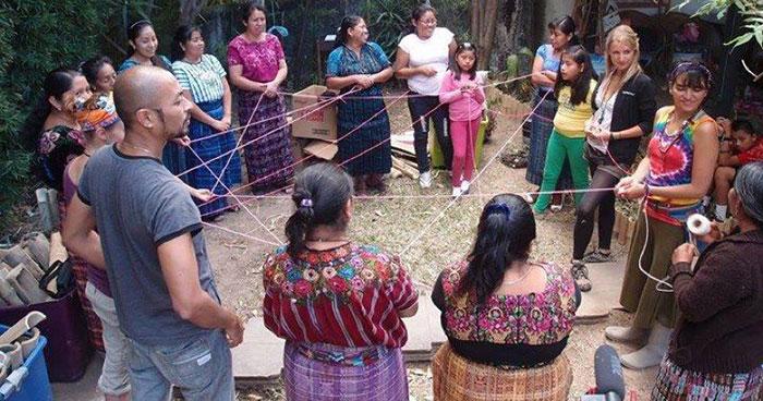 A yarn workshop with Projecto Nuevo Mundo at a local community in Lake Atitlan, Guatemala