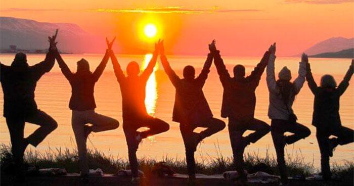 Group doing Yoga