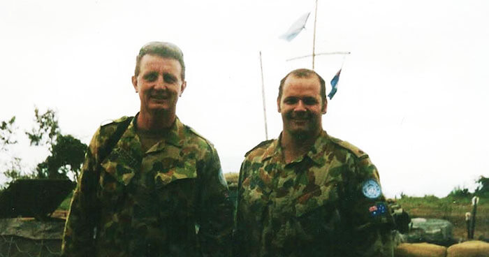 Australia Defence Force soldier Todd Berry (right)