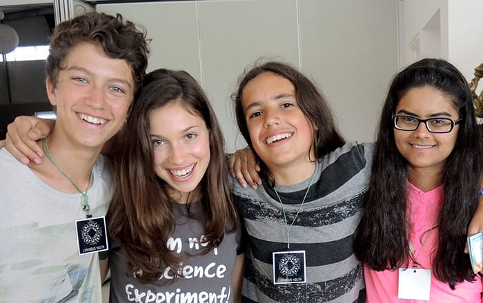 Xiuhtezcatl with friends at the Uplift Festival 2013