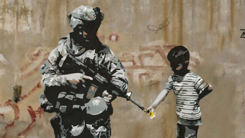Banksy-soldier-child-flower