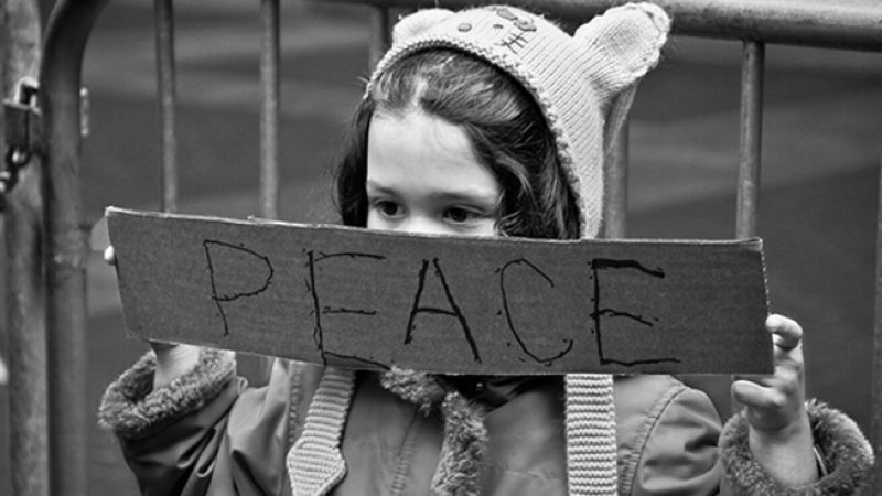 Calling for peace even at a young age. - San Francisco, CA November 5, 2011
